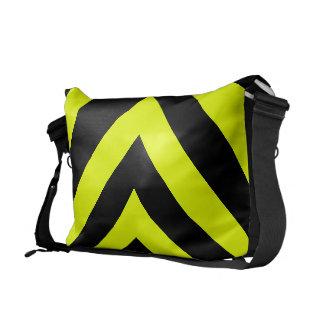 Car Racing Black and Yellow Arrows F1 Race Hazard Commuter Bag