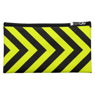 Car Racing Black and Yellow Arrows F1 Race Hazard Cosmetics Bags