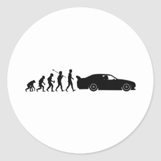 Car Racing Classic Round Sticker