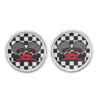 Car Racing Design Cuff Links