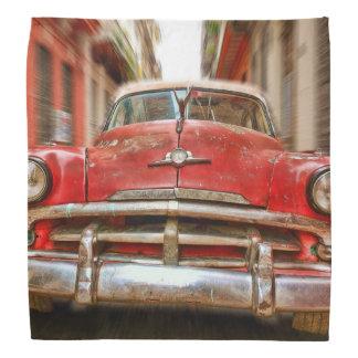 Car racing in the streets of old Havana, Cuba Do-rags