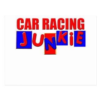 Car Racing Postcard