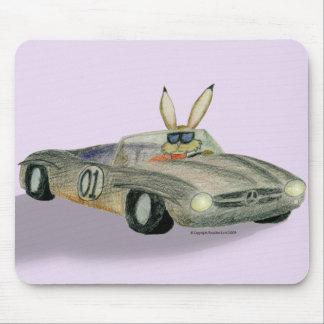 Car Racing Rabbit Mouse Pad