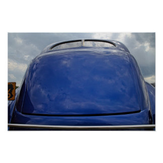 Car reflection poster