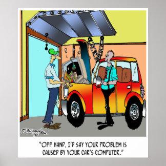 Car Repair Cartoon 8532 Poster