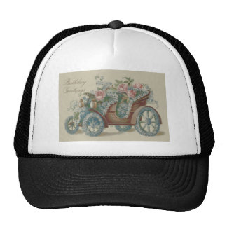 Car Rose Forget Me Not Floral Flowers Hats