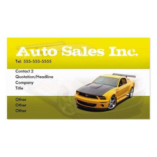 Car sales auto sales business card zazzle for Car sales business cards