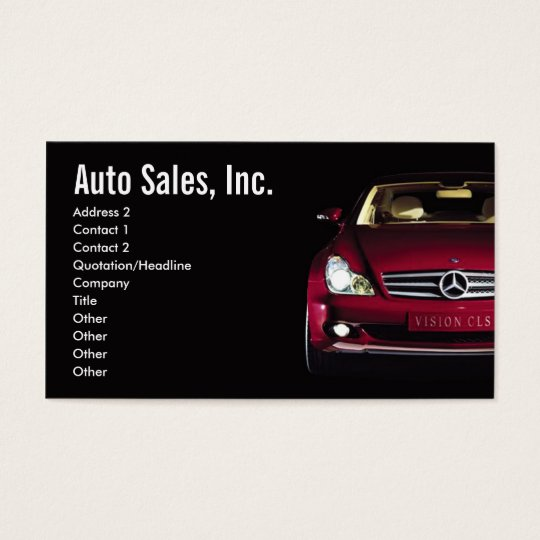 Car sales business cards zazzlecomau for Auto sales business cards
