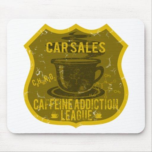Car Sales Caffeine Addiction League Mousepad