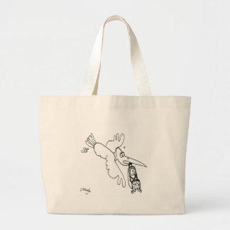 Car Seat Cartoon 3434 Large Tote Bag