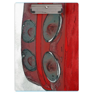 Car tail lights as a sketch clip board clipboards