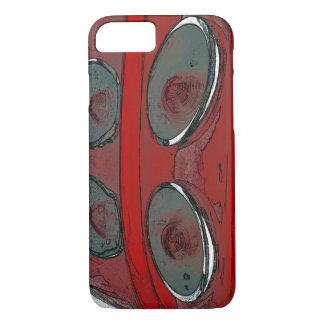 Car tail lights as a sketch iPhone 7 Barely There iPhone 8/7 Case