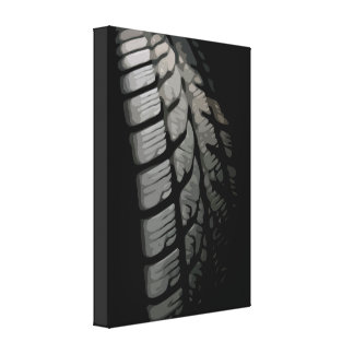 Car Tire in Simple and Clean Design Style Canvas Print