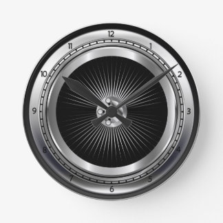 Car Tire Metallic Wheel Wall Clock