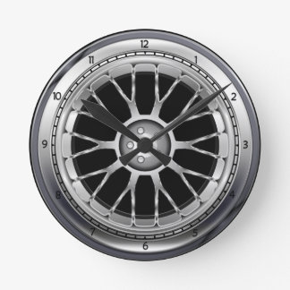 Car Tire Steel Wheel Wall Clock