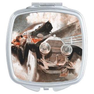Car vs Train by William Harnden Foster Compact Mirror