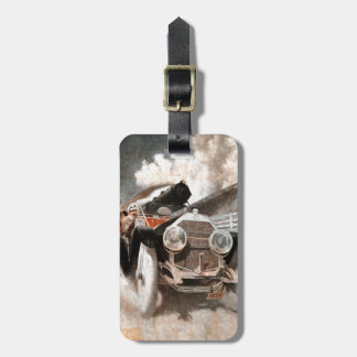 Car vs Train by William Harnden Foster Luggage Tag