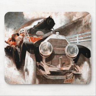 Car vs Train by William Harnden Foster Mouse Pad