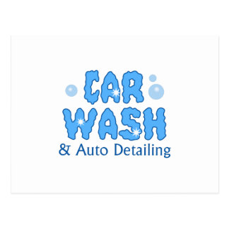 CAR WASH AUTO DETAILING POSTCARD