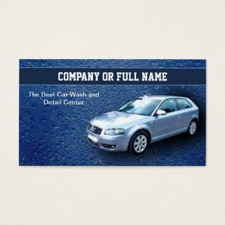 car wash auto details business cards