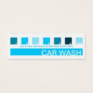 CAR WASH customer appreciation (mod squares) Mini Business Card