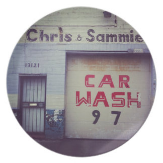 Car Wash Dinner Plate