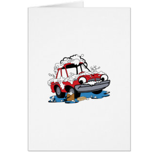 Car Wash Greeting Card
