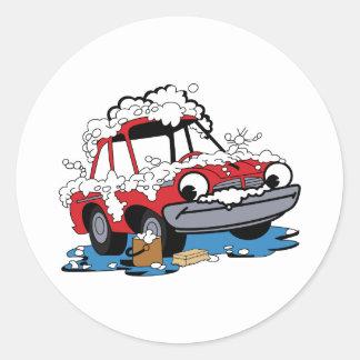 Car Wash Round Sticker