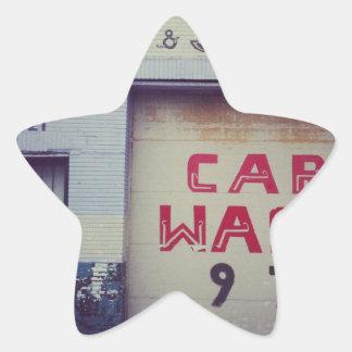 Car Wash Star Sticker