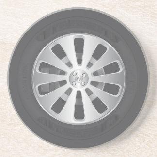 Car wheel coaster
