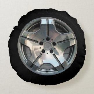 Car Wheel Throw Pillow Round Cushion