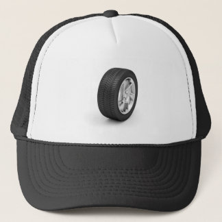 Car wheel trucker hat