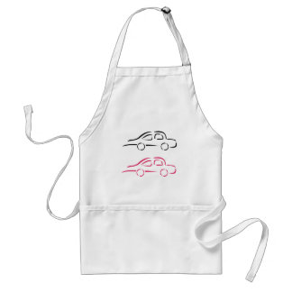 Car with abstract lines standard apron