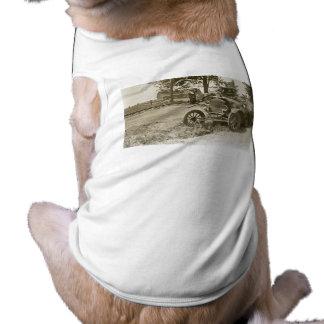 Car Wreck Marine City MI July 1930s - Vintage Sleeveless Dog Shirt