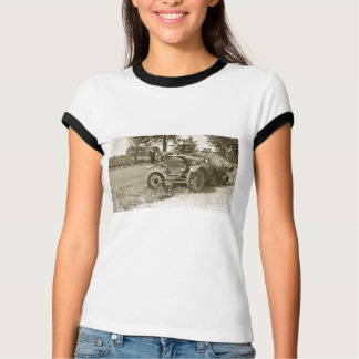 Car Wreck Marine City MI July 1930s - Vintage T-Shirt