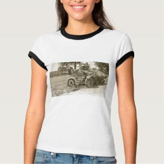Car Wreck Marine City MI July 1930s - Vintage Tshirts