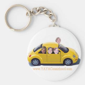 Car YaYaCousinhood Basic Round Button Key Ring