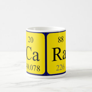 Cara periodic table name mug
