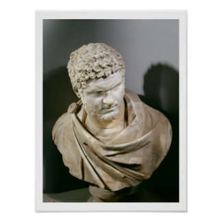 Caracalla, Roman marble cuirassed bust, 212-217 AD Poster