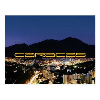 Caracas by night postcard