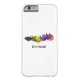 Caracas skyline in watercolor barely there iPhone 6 case