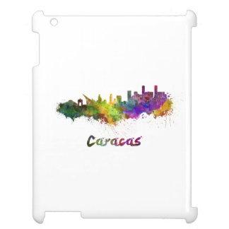 Caracas skyline in watercolor case for the iPad