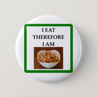 caramel 6 cm round badge