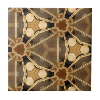 Caramel Abstract Small Square Tile
