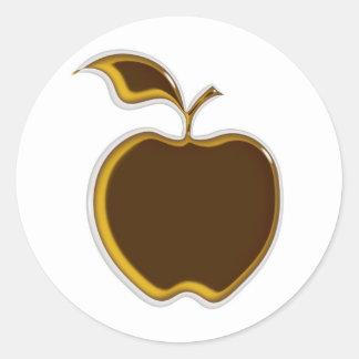 Caramel Apple Stickers..! Classic Round Sticker