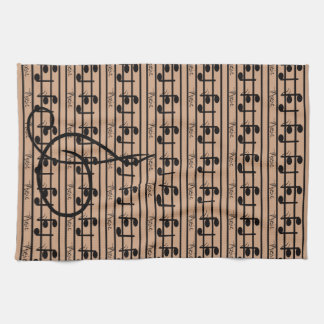 Caramel Cafe Khaki Music Musicians CricketDiane Kitchen Towels
