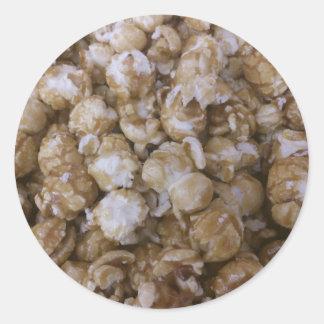 Caramel Pop Corn Classic Round Sticker