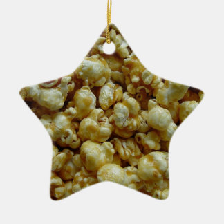 Caramel Popcorn Ceramic Ornament