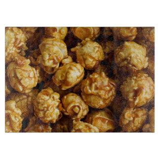 Caramel Popcorn Decorative Glass Cutting Board