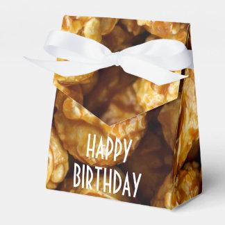Caramel Popcorn Happy Birthday Favor Box